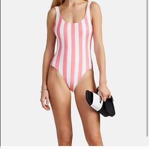 Solid and stripe one piece